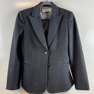 Tahari ASL suit set black pinstripe size size 4